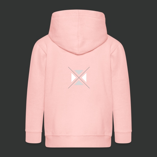 hipster triangles - Kids' Premium Zip Hoodie