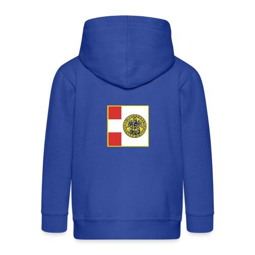 Bandiera Comunità Valsesia - Felpa con zip Premium per bambini