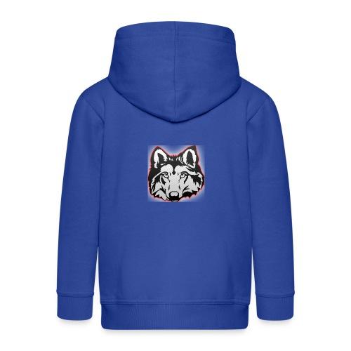 Wolfie (Red) - Kids' Premium Zip Hoodie