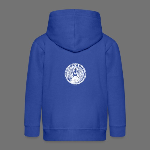Maschinentelegraph (white oldstyle) - Kids' Premium Hooded Jacket