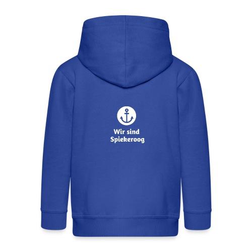 Wir sind Spiekeroog Logo weiss - Kinder Premium Kapuzenjacke