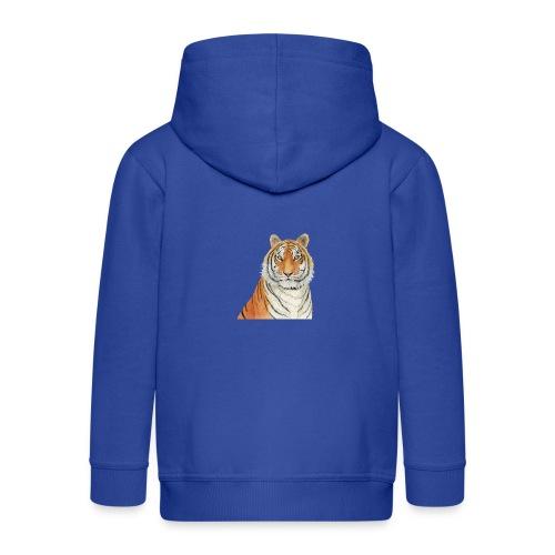Tigre,Tiger,Wildlife,Natura,Felino - Felpa con zip Premium per bambini