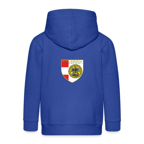 scudo simbolo comunità Valsesiana - Felpa con zip Premium per bambini