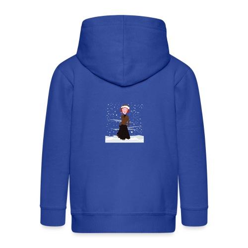 Heure d'hiver - Veste à capuche Premium Enfant