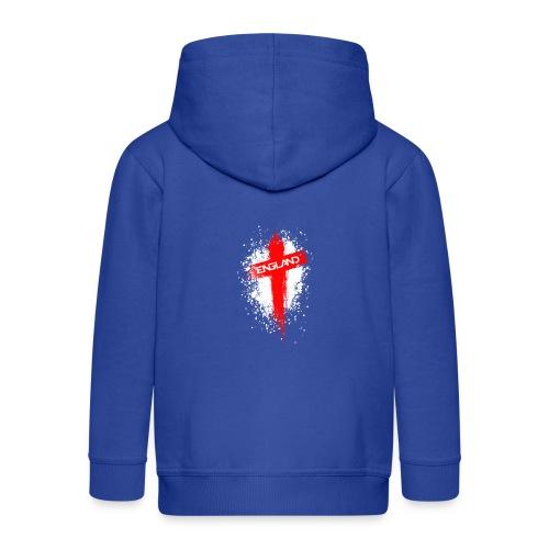 England Painted-Red - Kids' Premium Zip Hoodie