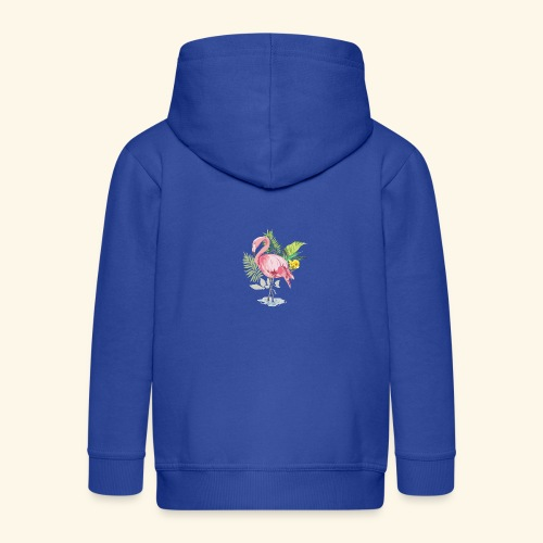 Flamingo tropical forest - Kids' Premium Zip Hoodie
