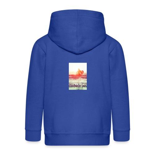 sunset surf jpg - Kids' Premium Zip Hoodie