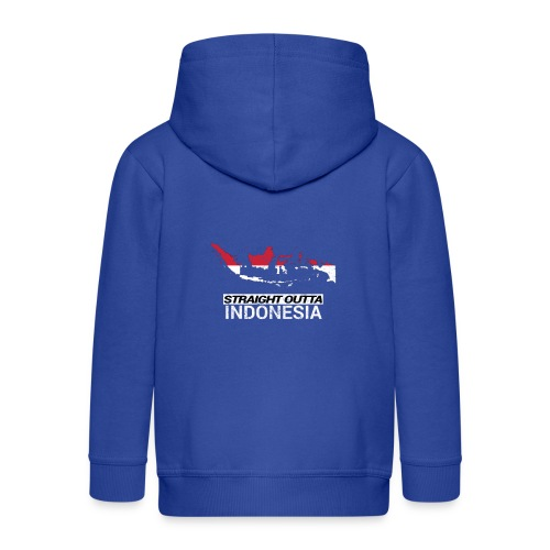Straight Outta Indonesia country map & flag - Kids' Premium Hooded Jacket