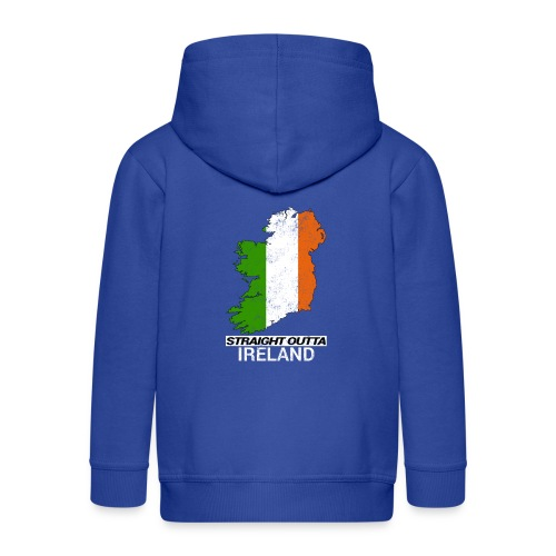 Straight Outta Ireland (Eire) country map flag - Kids' Premium Hooded Jacket