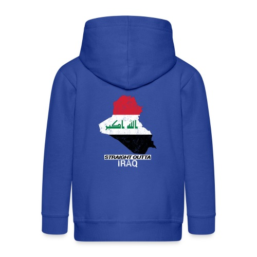 Straight Outta Iraq country map & flag - Kids' Premium Hooded Jacket