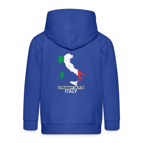 Straight Outta Italy (Italia) country map flag - Kids' Premium Hooded Jacket