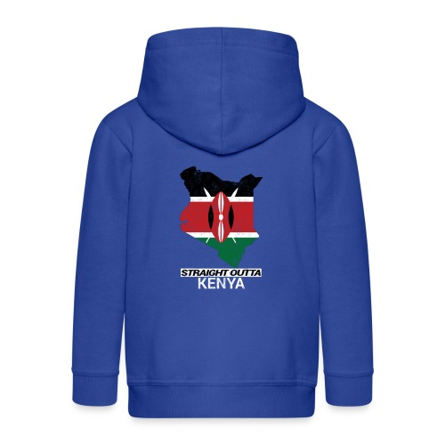 Straight Outta Kenya country map & flag - Kids' Premium Hooded Jacket