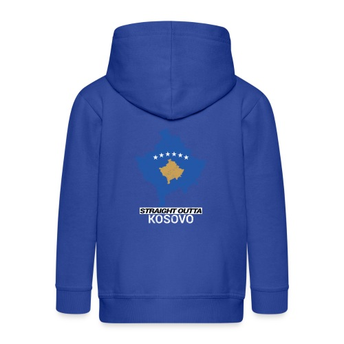 Straight Outta Kosovo country map - Kids' Premium Hooded Jacket