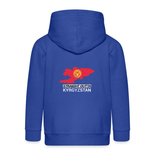Straight Outta Kyrgyzstan country map - Kids' Premium Hooded Jacket