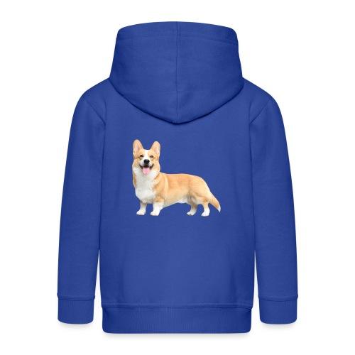 Topi the Corgi - Sideview - Kids' Premium Hooded Jacket