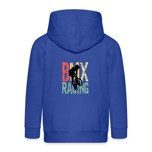 bmx racing retro geschenkidee - Kinder Premium Kapuzenjacke