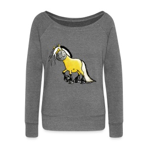 fjord_horse - Women's Boat Neck Long Sleeve Top