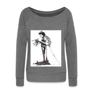 EdwardScissorhands.jpg - Women's Boat Neck Long Sleeve Top
