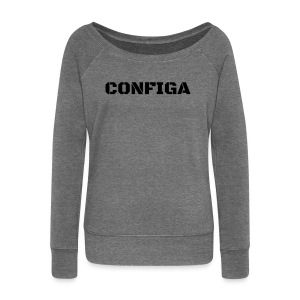 Configa Logo - Women's Boat Neck Long Sleeve Top