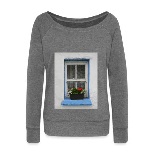 Cashed Cottage Window - Women's Boat Neck Long Sleeve Top