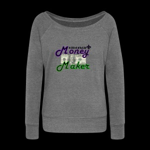 RF MONEY MAKER - Women's Boat Neck Long Sleeve Top