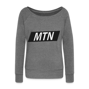 MTN BoxLogo T-shirt herre - Women's Boat Neck Long Sleeve Top