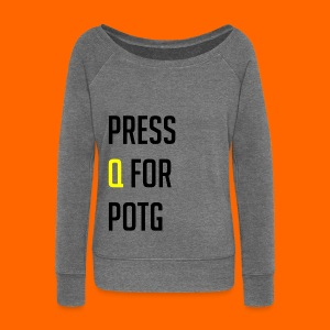 Press Q for play of the game - Women's Boat Neck Long Sleeve Top