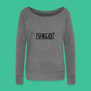 Velo Icon Blk - Long Sleeve Baseball Shirt W/N Clr - Women's Boat Neck Long Sleeve Top