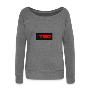 TGD LOGO - Women's Boat Neck Long Sleeve Top