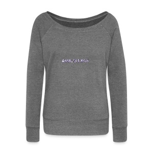 GabbleStudios Logo - Women's Boat Neck Long Sleeve Top