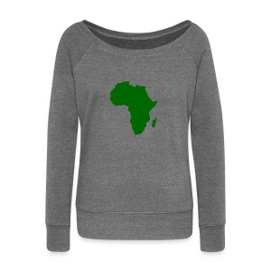 African styles green - Women's Boat Neck Long Sleeve Top