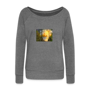 Temple of light - Women's Boat Neck Long Sleeve Top