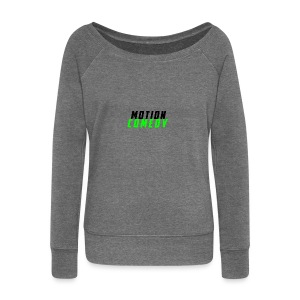 MotionComedy Official - Women's Boat Neck Long Sleeve Top