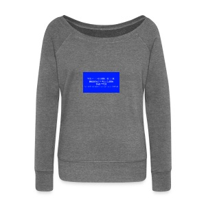 Hard Drive Deleted Notice - Women's Boat Neck Long Sleeve Top