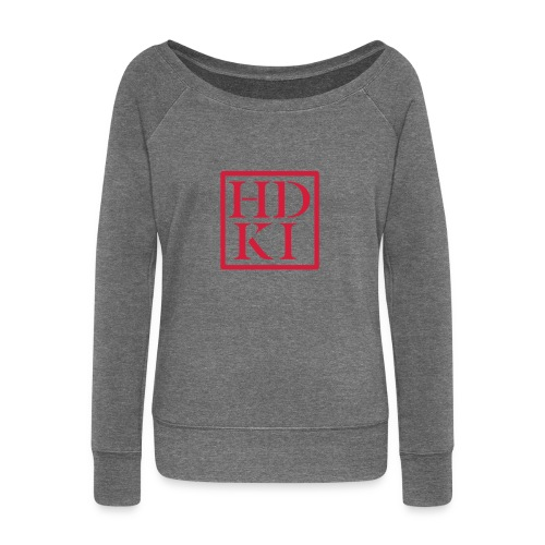 HDKI logo - Women's Boat Neck Long Sleeve Top