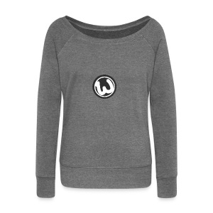 Wooshy Logo - Women's Boat Neck Long Sleeve Top