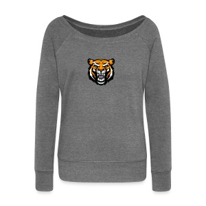 Tiger - Women's Boat Neck Long Sleeve Top