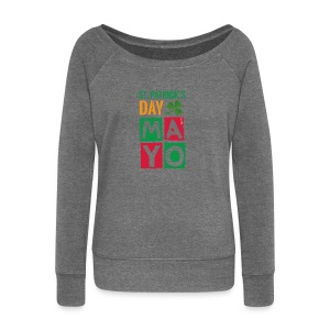 Celebrate St. Patrick's Day in Mayo - Women's Boat Neck Long Sleeve Top