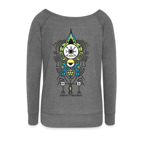 Parvati Records Vegvísir - Women's Boat Neck Long Sleeve Top