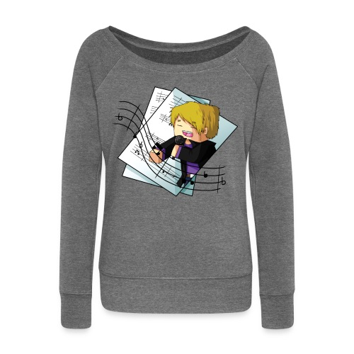 Sing with me - Women's Boat Neck Long Sleeve Top
