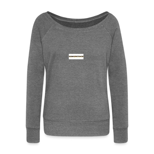Concentrate on white - Women's Boat Neck Long Sleeve Top