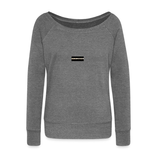 Concentrate on black - Women's Boat Neck Long Sleeve Top