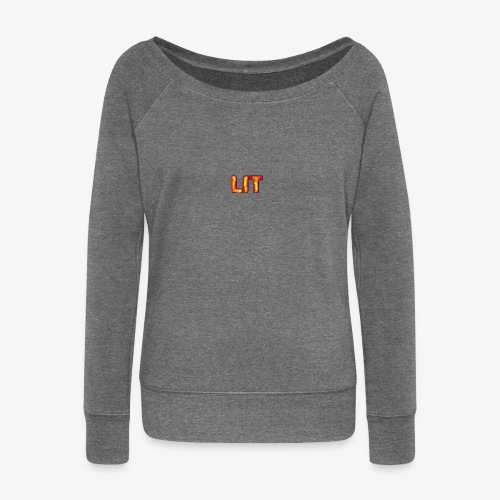 Logo #2 - Women's Boat Neck Long Sleeve Top