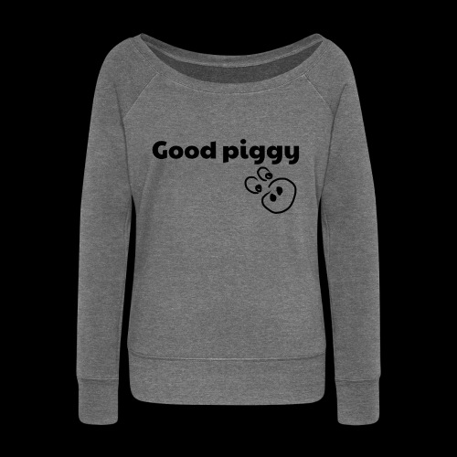 Good Pig - Women's Boat Neck Long Sleeve Top