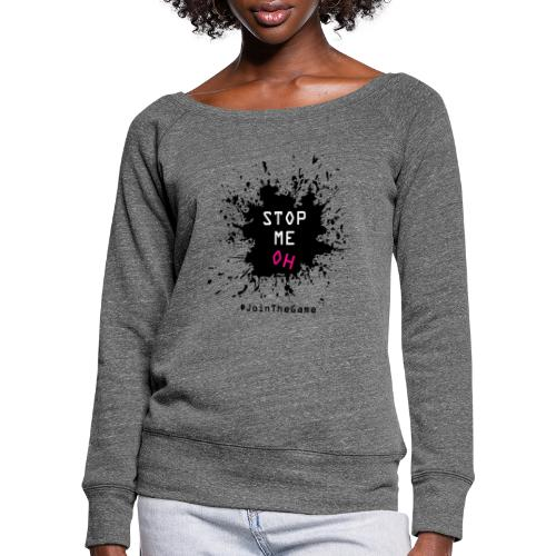 Stop me oh - Women's Boat Neck Long Sleeve Top