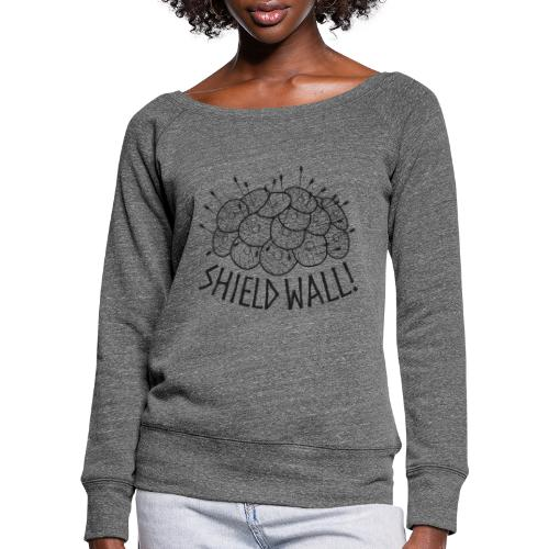 SHIELD WALL! - Women's Boat Neck Long Sleeve Top