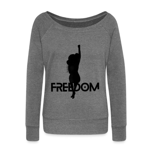 Freedom Blackout - Women's Boat Neck Long Sleeve Top