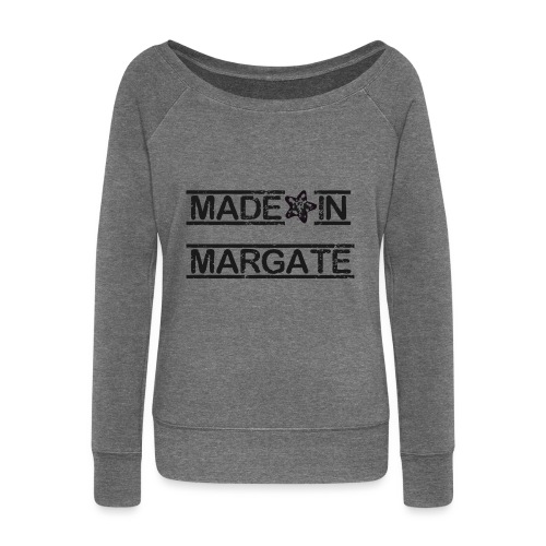 Made in Margate - Black - Women's Boat Neck Long Sleeve Top