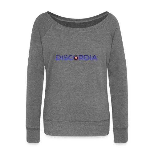 Discordia Logo - Women's Boat Neck Long Sleeve Top