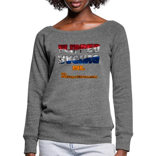 Flipped Racing, Red White and Blue - Women's Boat Neck Long Sleeve Top